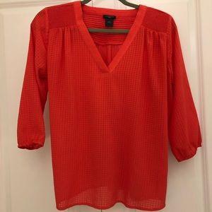 Ann Taylor flowy long sleeve blouse
